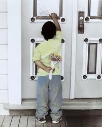 boy knocking