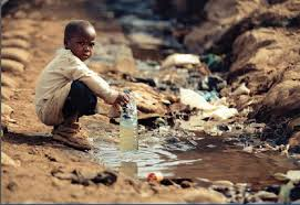 boy looking for water