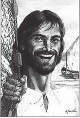 Jesus fishing