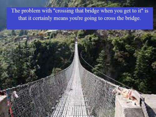 Bridge with words
