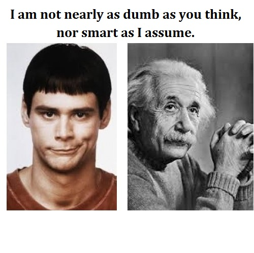 Dumb and Einstein words