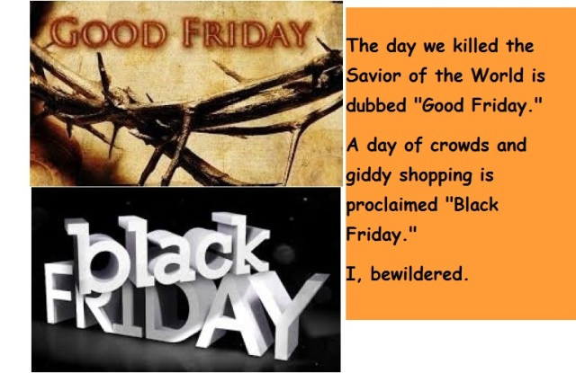 Good Friday Black Friday with words
