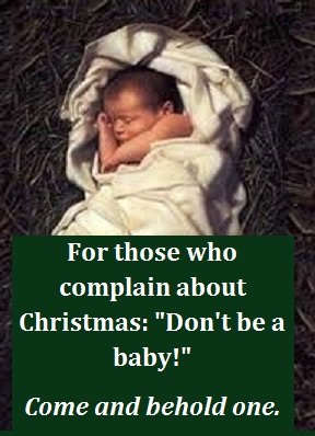 baby Jesus bigger with words