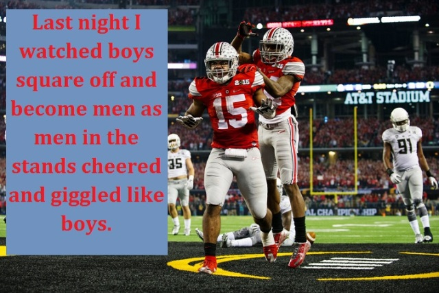 Ohio State with words