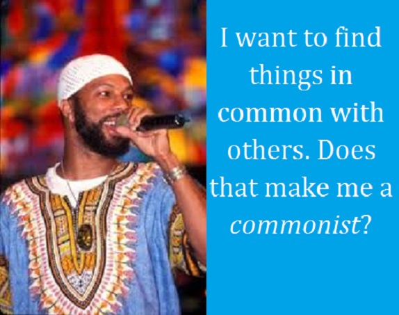 Common the Rapper with words