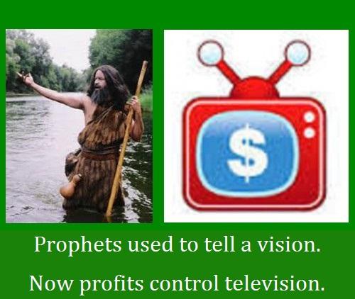 Prophet profit composite with words