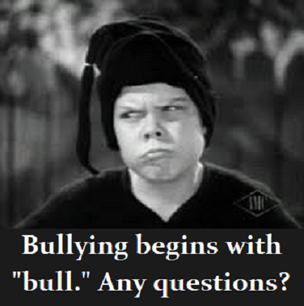 bully from The Little Rascals with words