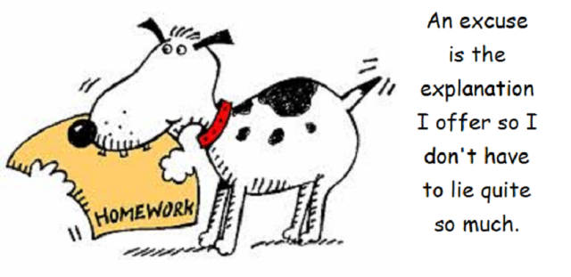 dog ate homework bigger with words