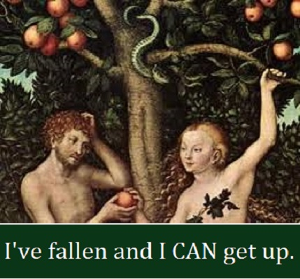adam and eve with words