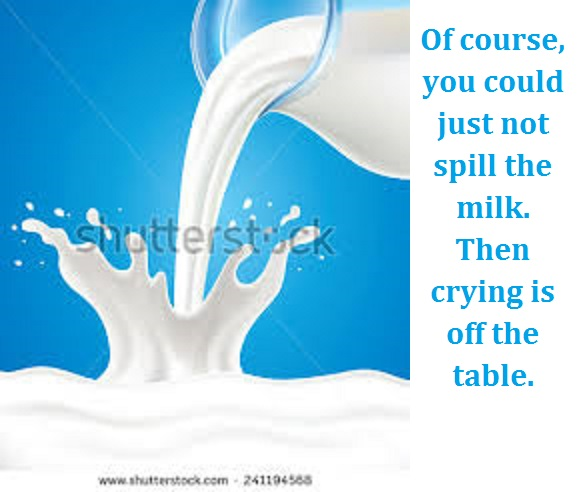 milk pouring with words