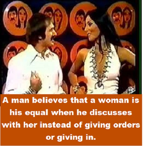 Sonny and Cher with words