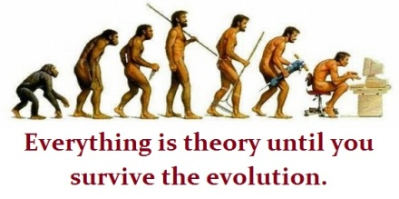 funny evolution chart with words