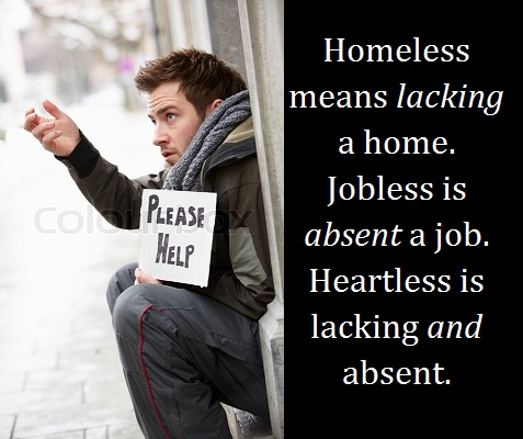 homeless man begging weith words