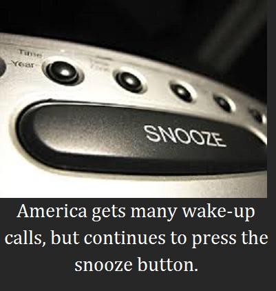 alarm clock snooze button with words