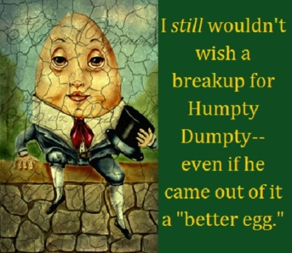 humpty dumpty with words