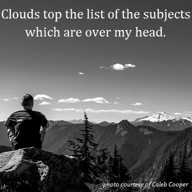 Caleb's Clouds with words