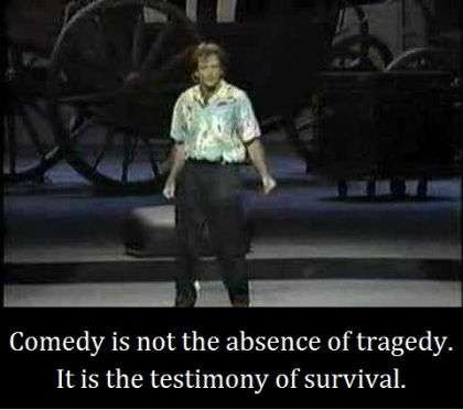 Robin Williams with words