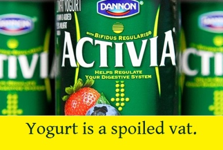 activia bifidus regularis with words