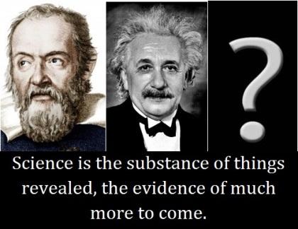 Einstein and Galileo with words