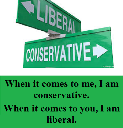 liberal and conservative with words