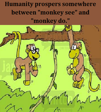 monkey see monkey do with words