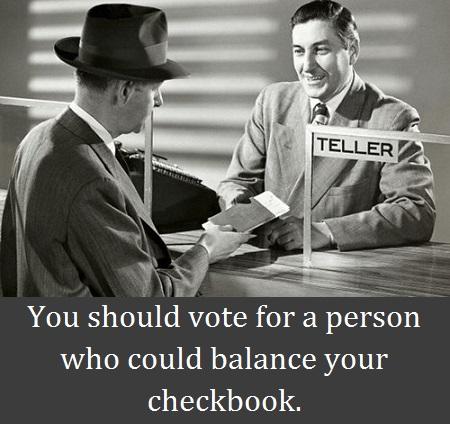 balance checkbook with words