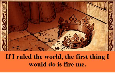 broken-crown with words