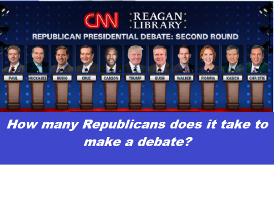 CNN Republican debate participants with words