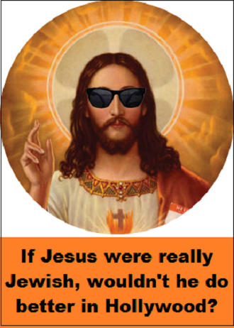 Jesus in sunglasses with words