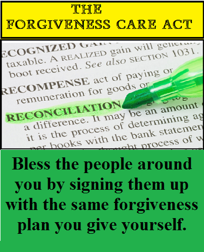 Forgiveness Contract with words