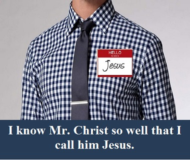 Jesus shirt and nametag with words