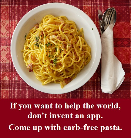 pasta with words