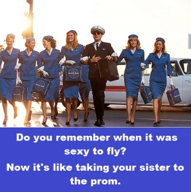 Stewardesses with words