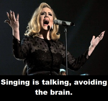 Adele singing with words
