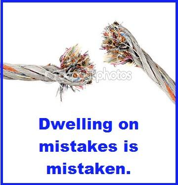 broken wire with words