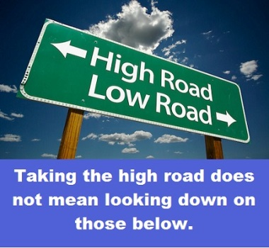high road with words