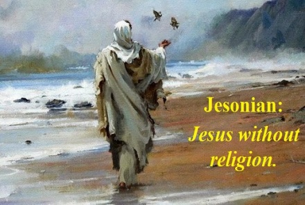 Jesus on the beach with words