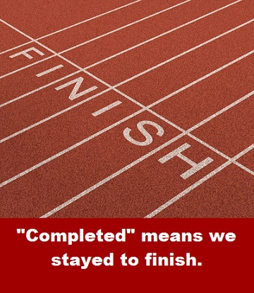 Finish Line with words