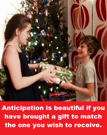 Giving gift with words