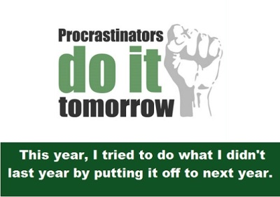 procrastination with words