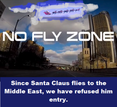 Santa over no fly zone