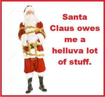 Santa tied up with words