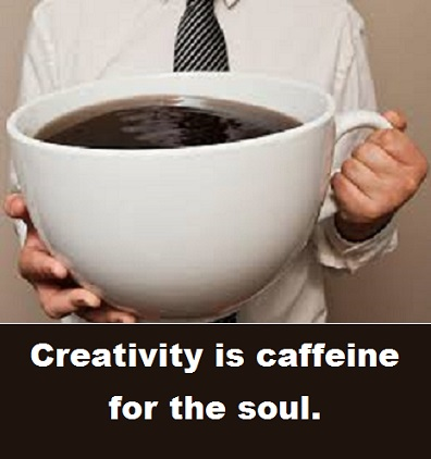 cup of coffee with words