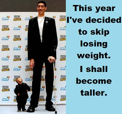 tallest and shortest man with words