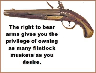 flintlock musket with words