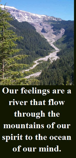 beautiful river and mountain with words
