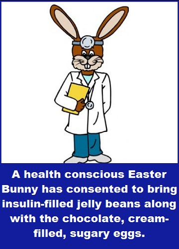 Easter bunny doctor with words