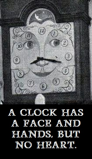 Grandfather Clock with words