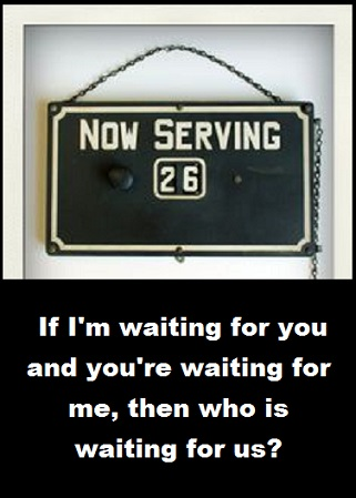 now serving with words