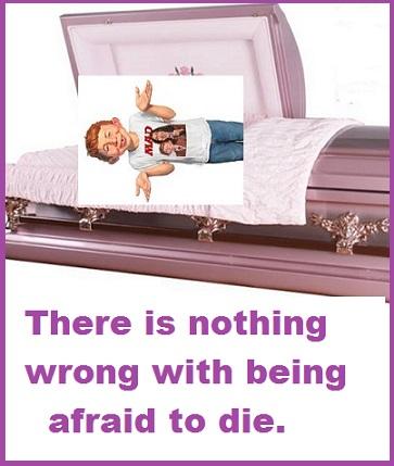 Alfred in a casket
